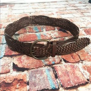 Target Brown Bonded Leather woven belt